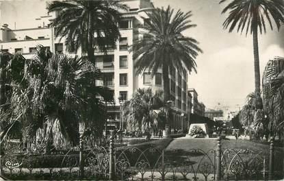 """CPSM TUNISIE """"Tunis, place de la Résidence, monument aux morts"""""""