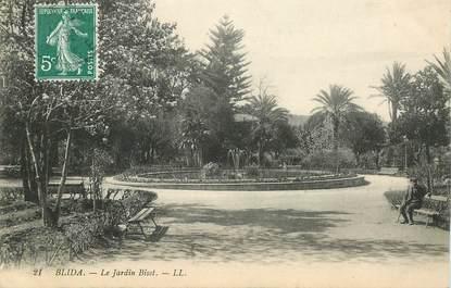 """CPA ALGERIE """"Blida, le Jardin Bisot"""""""