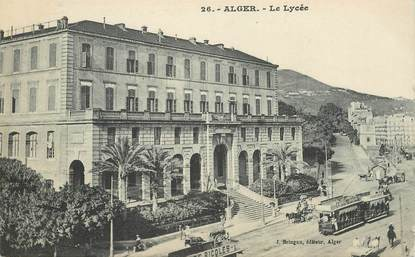 """CPA ALGERIE """"Alger, le lycée"""""""