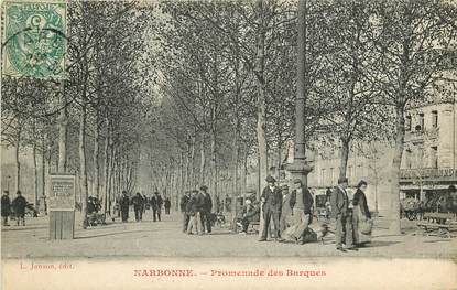 "CPA FRANCE 11 ""Narbonne, promenade des barques"""