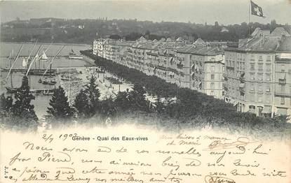 """CPA SUISSE """"Genève, quai des Eaux vives"""""""