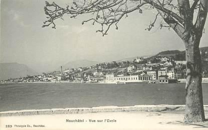 "CPA SUISSE ""Neuchâtel, vue sur l'Evole"""