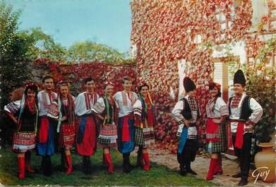 "CPSM UKRAINE ""Costumes nationaux, groupe folklorique"""