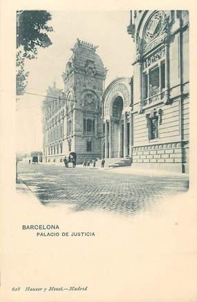 """CPA ESPAGNE  """"Barcelone, palais de justice"""" / Hauser y Menet"""