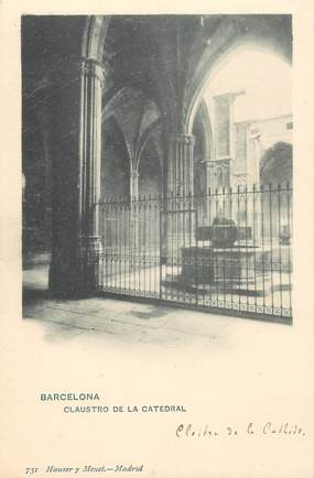 "CPA ESPAGNE  ""Barcelone, la cathédrale"" / Hauser y Menet"