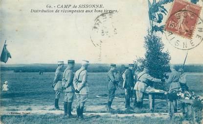"""/ CPA FRANCE 02 """"Camp de Sissonne"""" / MILITAIRE"""