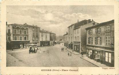 "/ CPA FRANCE 69 ""Givors, place Carnot"""