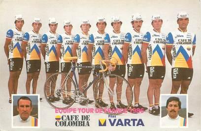 """CPSM CYCLISME """"Equipe du tour de France 1986"""""""