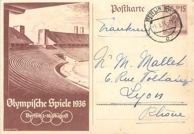 CPSM  SPORT / JEUX OLYMPIQUES 1936