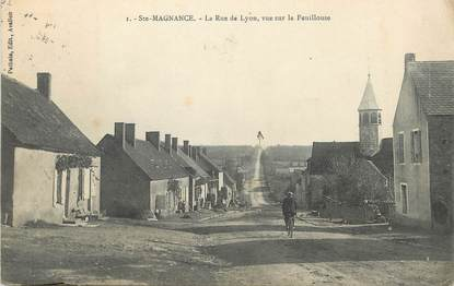 "/ CPA FRANCE 89 ""Sainte Magnance, la rue de Lyon"""