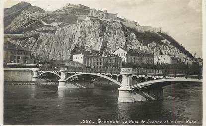"/ CPSM FRANCE 38 ""Grenoble, le pont de France et le fort Rabot"""
