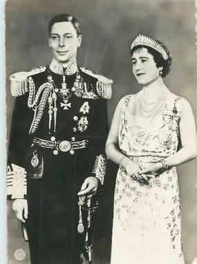 """CPSM ROYAUME UNI """"Le roi et la Reine 'Angleterre"""""""