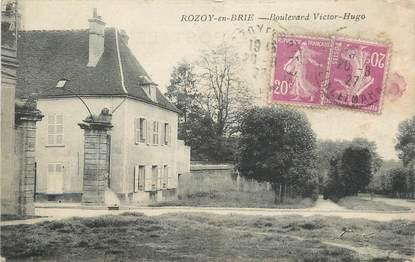 "/ CPA FRANCE 77 ""Rozoy en Brie, boulevard Victor Hugo"""