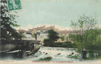 """/ CPA FRANCE 77 """"Villeneuve sur Bellot, le déversoir du moulin"""""""