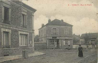 "/ CPA FRANCE 77 ""Torcy, rue de Paris"""