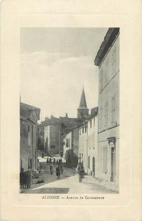 """CPA FRANCE 11 """"Alzonne, avenue de Carcassonne"""""""