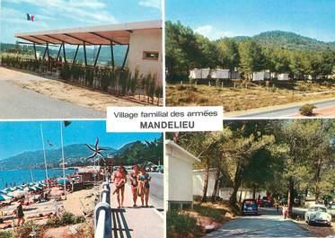 """/ CPSM FRANCE 06 """"Mandelieu, village familial des armées"""" / CAMPING"""