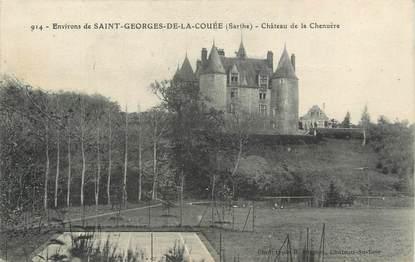 """/ CPA FRANCE 72 """"Environs de Saint Georges de la Couée, château de la Chenuère"""""""