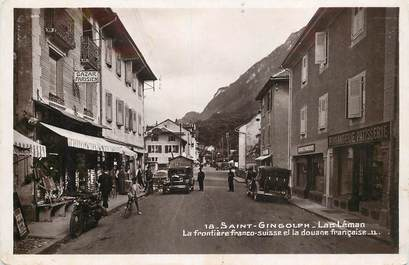 """CPSM FRANCE 74 """"Saint Gingolph, la frontière franco suisse et la douane"""""""