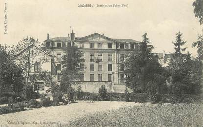 """/ CPA FRANCE 72 """"Mamers, institution Saint Paul"""""""