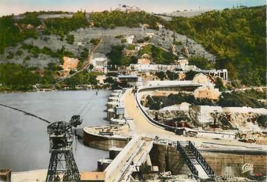 """CPSM FRANCE 01 """"Barrage de Génissiat, le lac et le barrage"""""""