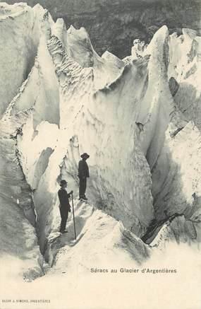 """/ CPA FRANCE 74 """"Séracs au glacier d'Argentières"""""""