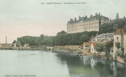 """/ CPA FRANCE 72 """"Sablé Sur Sarthe, le château vu des ponts"""""""