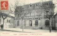 """11 Aude CPA FRANCE 11 """"Fleury d'Aude, la mairie et les Ecoles"""""""