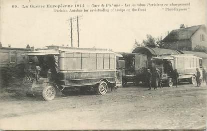 "CPA FRANCE 62 ""Béthune, la gare, les Autobus"""
