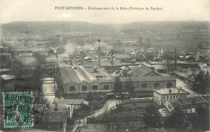 """/ CPA FRANCE 27 """"Pont Audemer, établissement de la Risle"""""""
