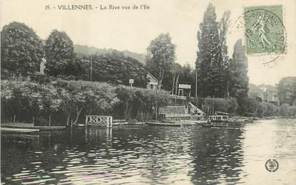 """/ CPA FRANCE 78 """"Villennes, la rive vue de l'Ile"""""""