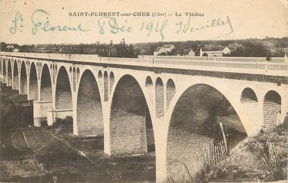 """CPA FRANCE 18 """"Saint Florent sur Cher, le viaduc"""""""