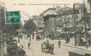 """75 Pari CPA FRANCE 75002 """"Paris, le bld saint Denis et la Porte saint Martin"""""""
