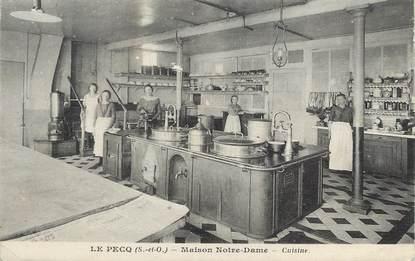 """/ CPA FRANCE 78 """"Le Pecq, maison Notre Dame, cuisine"""""""