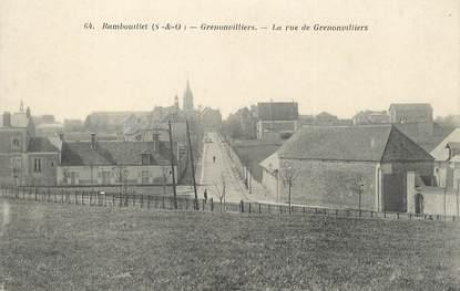 """/ CPA FRANCE 78 """"Rambouillet, Grenonvilliers, la rue de Grenonvilliers"""""""