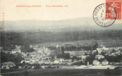 """/ CPA FRANCE 78 """"Rosny sur Seine, vue générale"""""""