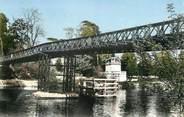 """95 Val D'oise CPSM FRANCE 95 """"Neuville sur Oise, l'Oise, le Pont et le temple"""""""