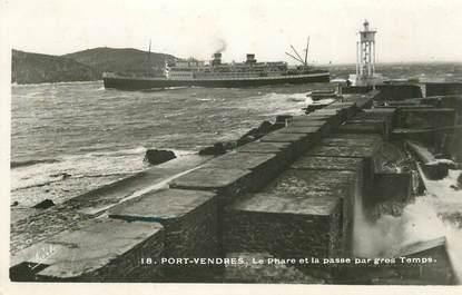 "CPSM FRANCE 66 ""Port Vendres, le phare"""