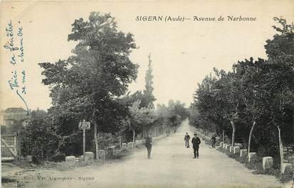 """CPA FRANCE 11 """"Sigean, avenue de Narbonne"""""""