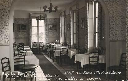 """CPSM FRANCE 58 """"Pougues les Eaux, Hotel du Parc"""""""