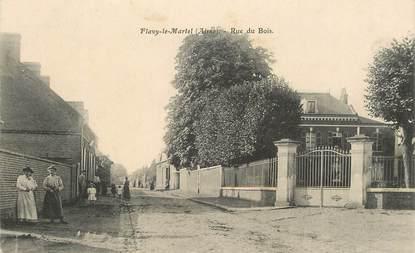 """CPA FRANCE 02 """"Flavy le Martel, rue du Bois"""""""