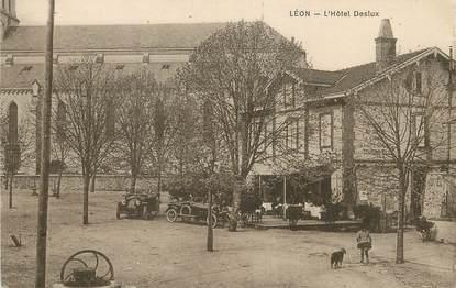 """/ CPA FRANCE 40 """"Leon, l'hôtel Deslux"""" / USAGE TARDIF"""