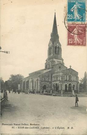 """/ CPA FRANCE 40 """"Rion des Landes, l'église"""""""