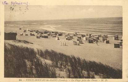 """/ CPA FRANCE 40 """"Vieux Boucau les Bains, la plage"""""""