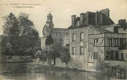 """CPA FRANCE 14 """"Lisieux, vue sur la Touques et Eglise Saint Désir"""""""
