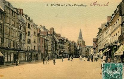 "CPA FRANCE 14 ""Lisieux, la place Victor Hugo"""