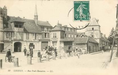"CPA FRANCE 14 ""Lisieux, rue Paul Banaston"""