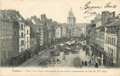 """CPA FRANCE 14 """"Lisieux, Place Victor Hugo"""""""