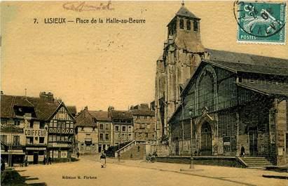 """CPA FRANCE 14 """"Lisieux, Place de la Halle au Beurre"""""""
