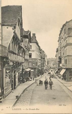 "CPA FRANCE 14 ""Lisieux, la grande rue"""